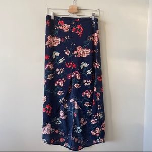 Cotton-On Floral High Low Dark Floral Skirt(Small)